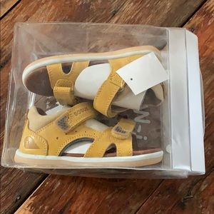 Bobux tidal i-walk yellow leather sandals toddler7